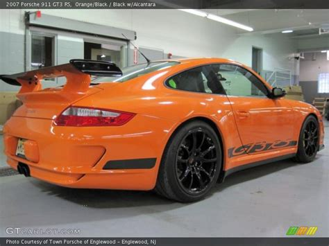 orange porsche 911 gt3 2007 porsche 911 gt3 rs in orange black photo no 25908013