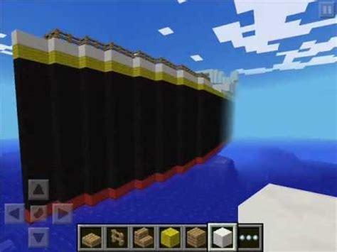 Minecraft Titanic Sinking Animation by Titanic Ship Minecraft Pocket Edition 101 Year Anniversary