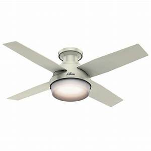 Hunter dempsey fresh white quot indoor ceiling fan