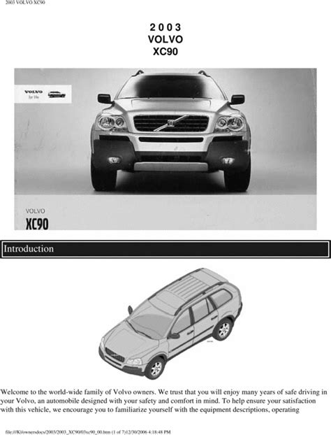 free service manuals online 2003 volvo xc90 spare parts catalogs 03 volvo xc90 2003 owners manual download manuals technical
