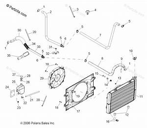 Polaris Side By Side 2007 Oem Parts Diagram For Cooling System