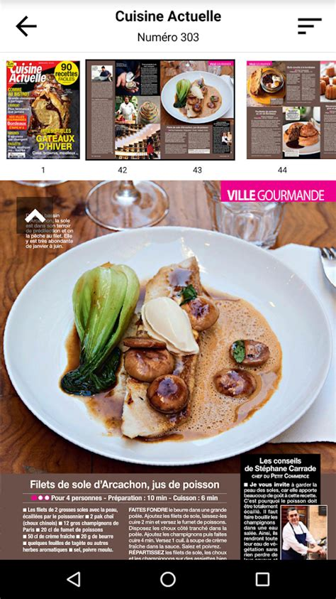 cuisine actuelle magazine cuisine actuelle le magazine android apps on play