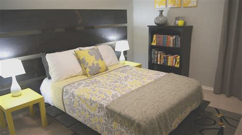 Grey Yellow And Blue Bedroom Inspiration Awesome Home