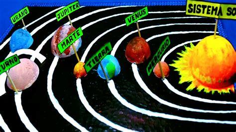 maqueta sistema solar con material de reciclaje maquetas sistema solar secci 211 n de maqueta del sistema solar facil youtube