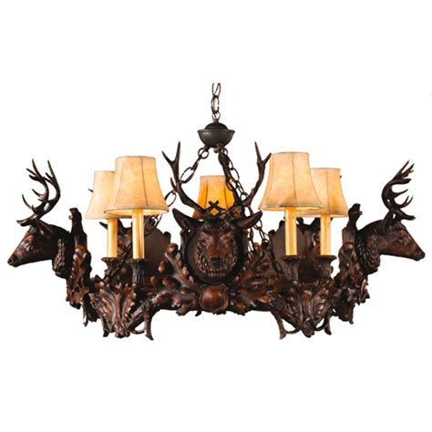small stag chandelier 5 light
