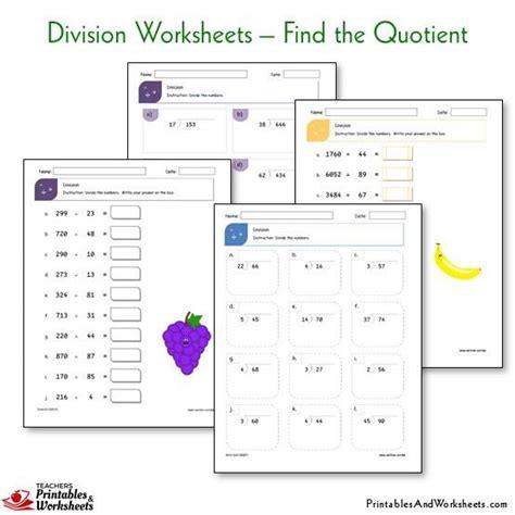 Division Worksheets  Printables & Worksheets