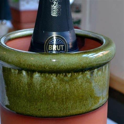 wine cooler   apple green glaze weston mill