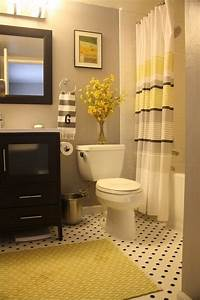 22 bathrooms with yellow accents messagenote With black and white bathroom accent color