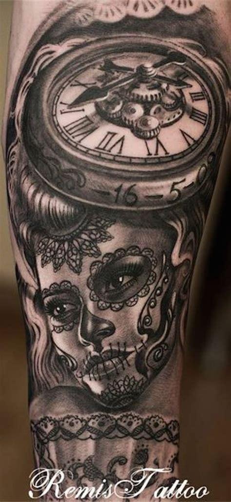 Clock Day The Dead Tattoo Tattoos