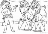 Circus Coloring Pages Lion Printable sketch template