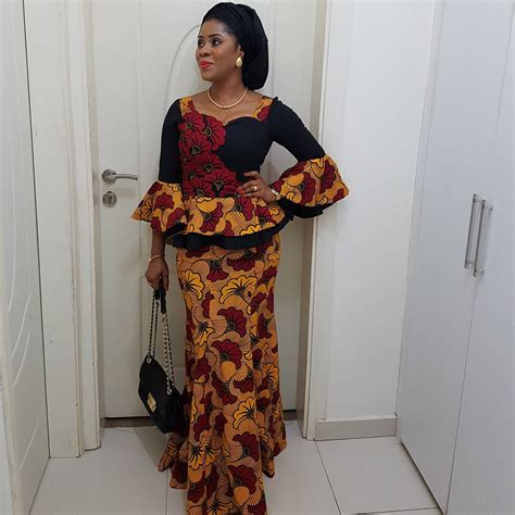See These Pictures of Latest Ankara Peplum Styles in 2018 - Skirt and Blouse Peplum Tops Designs ...