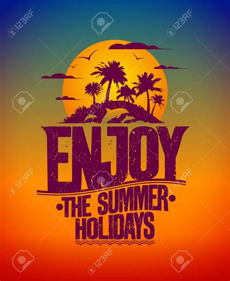 enjoy summer vacation clip art cliparts