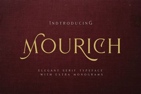 Mourich Elegant Font   With Extra   Deeezy