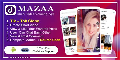 Mazaa Short Video Creating App Like Tik -Tok - Market