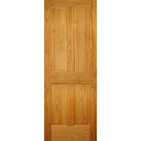 interior doors home depot builder 39 s choice 28 in x 80 in 4 panel solid pine