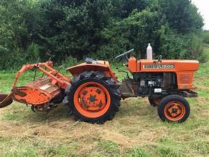 Kubota L1500 2wd Compact Tractor With Rotavator  911 Hours