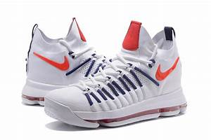 Latest Nike Air Zoom KD 9 Elite White/Dark-Blue Basketball ...