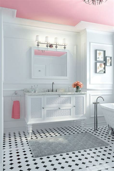ways  decorate  pink   bathroom