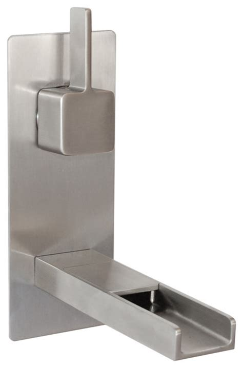 Wall Mounted Waterfall Faucets Bathroom by Cascada Waterfall Wall Mount Faucet Brushed Nickel
