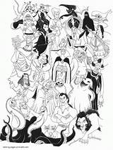 Coloring Disney Villains Pages Printable Colouring Maleficent Adult Sheets Halloween Drawings Cartoon Visit Popular Ads Google sketch template