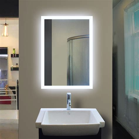Back Lit Bathroom Mirrors by Backlit Bathroom Mirror Rectangle 40 X 24 In By
