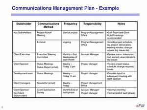 Project management communication plan template pictures to for Project management communications plan template