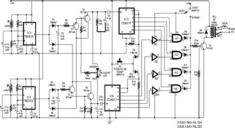 Serial Lighting Diagram by Electroics Digital Radar Speedometer