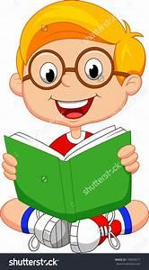 Little Boy Reading Clipart - ClipartXtras
