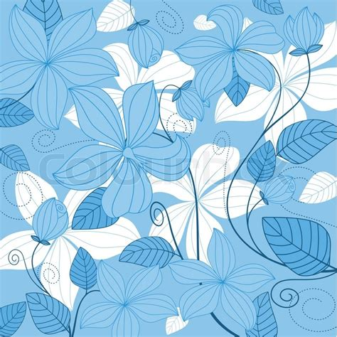 blue floral background  textile  invitation card