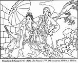 Coloring Famous Hispanic Goya Spanish Cuadros Francisco Americans Printable Parasol Cesar Pintar Chavez Adult Paintings Obras Dibujos Arte Colorear Books sketch template