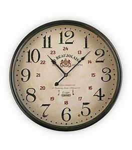 Horloge Murale Ronde Dcorative La Beaujolaise 50cm
