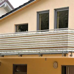 balkonsichtschutz beige weiss hohe 09 m meterware With feuerstelle garten mit balkon sichtschutz meterware weiß