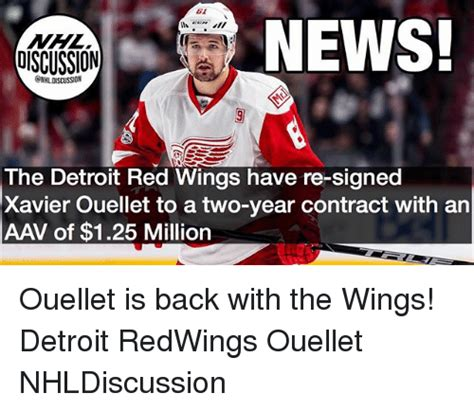 Red Wings Meme - news discussion nhldiscussion the detroit red wings have re signed xavier ouellet to a two year