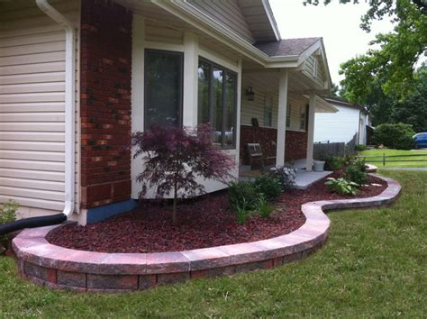 retaining wall lava rock traditional landscape st