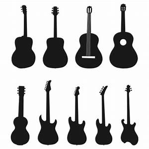 Acoustic Guitar Silhouette Vector Free - ClipArt Best