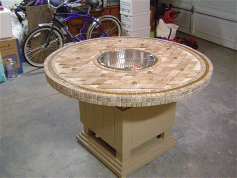 build gas fire table how to make a wood table into an outdoor fire pit with