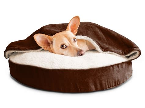 furhaven pet bed furhaven faux sheepskin snuggery orthopedic cave bed