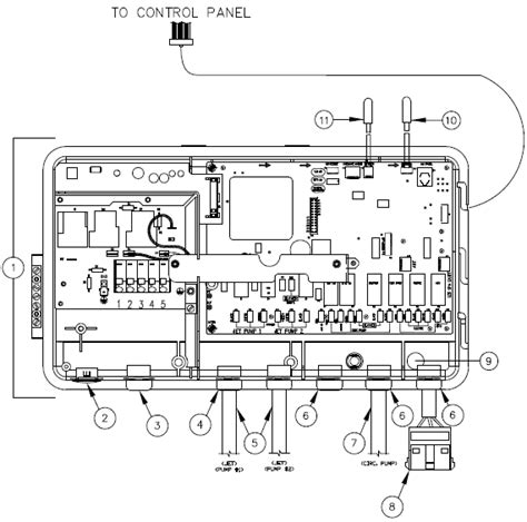 Heater Relay Board Hot Spring Parts