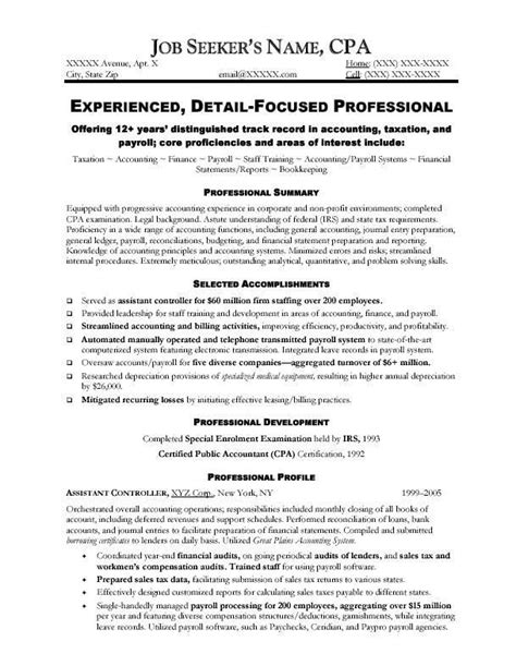 Sle Accounting Resumes by 19 Best Resume Images On Sle Resume
