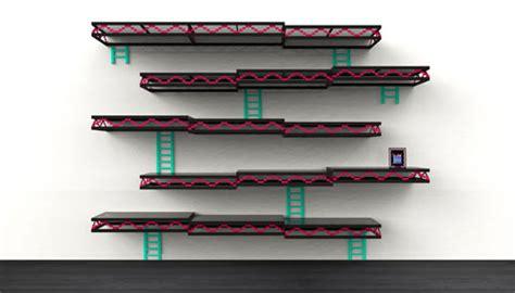 Donkey Kong Inspired Wall Shelving By Igor Chak Design Milk