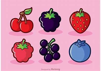 Berry Vector Vectors Fruits Blueberries Vecteezy Clipart
