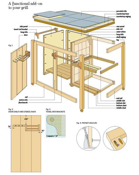 built  barbeque plans  bbq cart wood plans diy