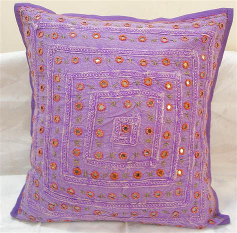 Decorative Toss Pillows by Purple Decorative Indian Cushion Covers Toss Pillows Sofa