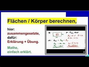Flächen Berechnen : zusammengesetzte fl chen berechnen erkl rung bung 07 ~ Themetempest.com Abrechnung