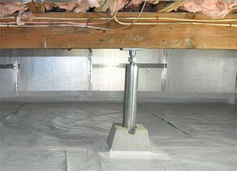 floor joist support jacks crawl space products in greater fayetteville ar drainage