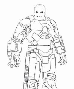 Full Body Coloring Pages Iron Man Drawing