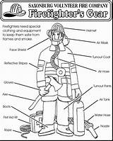 Coloring Firefighter Fire Fireman Firefighters Safety Preschool Prevention Equipment Week Gear Thank Sheets Printable Sam Crafts Worksheets Nice Vfc Saxonburg sketch template
