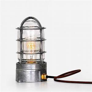 Accessories: Edison Cage Industrial Table Lamp With Steel