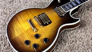 Trogly U0026 39 S Guitars  1990 Gibson Les Paul Custom Tobacco Sunburst Flame Top