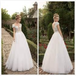 cheap wedding dresses with sleeves simple garden wedding dresses with cap sleeves lace floor length 2016 cheap bridal gowns